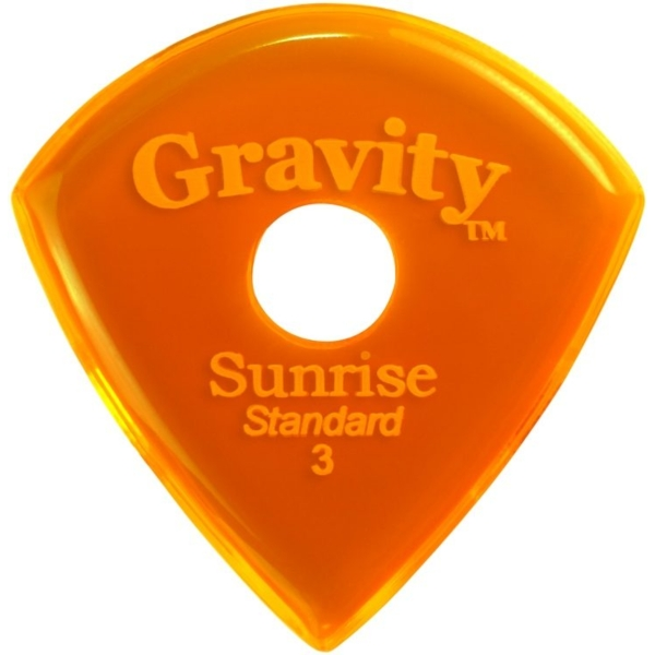 Gravity Sunrise Standard Master Finish Guitar Pick 3.0mm with Multi Hole